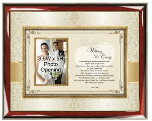 Personalized Love Gift Picture Frame Poetry Photo Plaque Husband