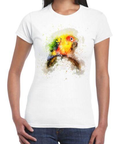 Loro Aves Animal Diseño Dibujo Camiseta para mujer
