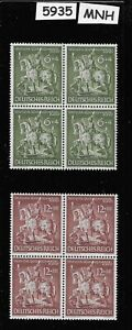 Full-1943-MNH-stamp-block-set-Goldsmiths-Society-WWII-Germany-Third-Reich