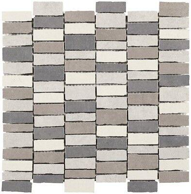 Mosaico greca gres 30x30 bagno cucina chios grey grigio ...