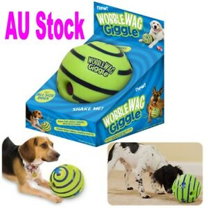 Wobble-Wag-Giggle-Ball-Dog-Doggy-Indoor-Outdootr-Pet-Toy-Rolling-Shaken-w-Sound