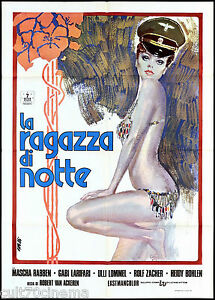 LA RAGAZZA DI NOTTE MANIFESTO CINEMA FILM EROTICO 1972 HARLIS MOVIE POSTER 2F