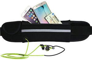 Unisex-Black-Waist-Belt-Bum-Bag-Jogging-Running-Travel-Pouch-Keys-Mobile-Cash