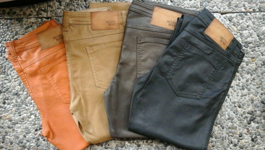 Art.5335 Pantalone Pantalone Pantalone 5 tasche effetto pelle Denny rosa 17cfd2