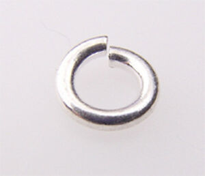 #721 sterling silver open jump ring of 5,6,7mm