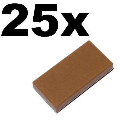 NEW LEGO 1 x 1 smooth flat tiler 1x1 TILES Medium Dark Flesh tile x 50