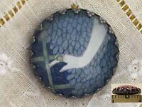 1 Erte Elegant Hand Art Deco Fashion Design Glass Metal Sewing Button Er28