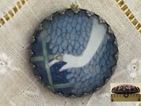 1 Erte Elegant Hand Art Deco Fashion Design Glass Metal Sewing Button Er28