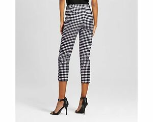 81ab03d7eeba9 Victoria Beckham for Target Blue and White Twill Gingham Pants ...