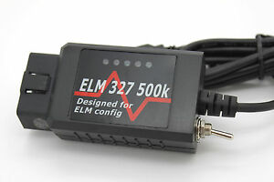 Details about Black USB Modified ELM327 Elmconfig Forscan Fits Ford Focus  Mondeo Kuga S-Max