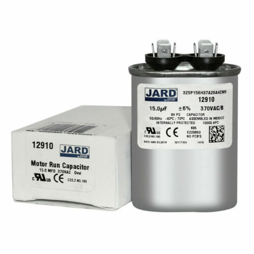 //-6/% 370 VAC//B Oval Capacitor 50//60 Hz Jard 325P156H37A26A4ZM9 15 uF