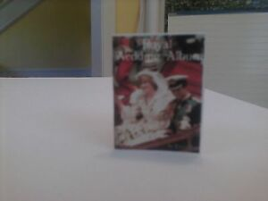 Diana and Charles The Royal Wedding with color pages dollhouse miniature book