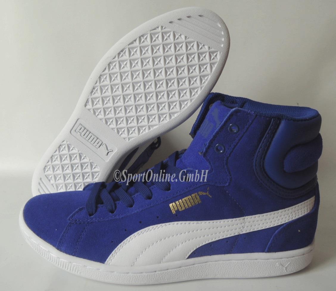 NEU Puma Vikky Mid Women Gr. 40,5 Sneaker Schuhe Boots 356716-06 BLAU