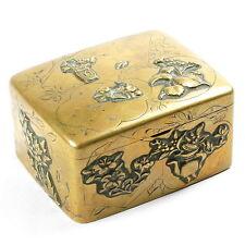 ANTIK! Dose JAPAN 19.Jahrhundertwende Messing/Bronze fein gearbeitet, Meiji