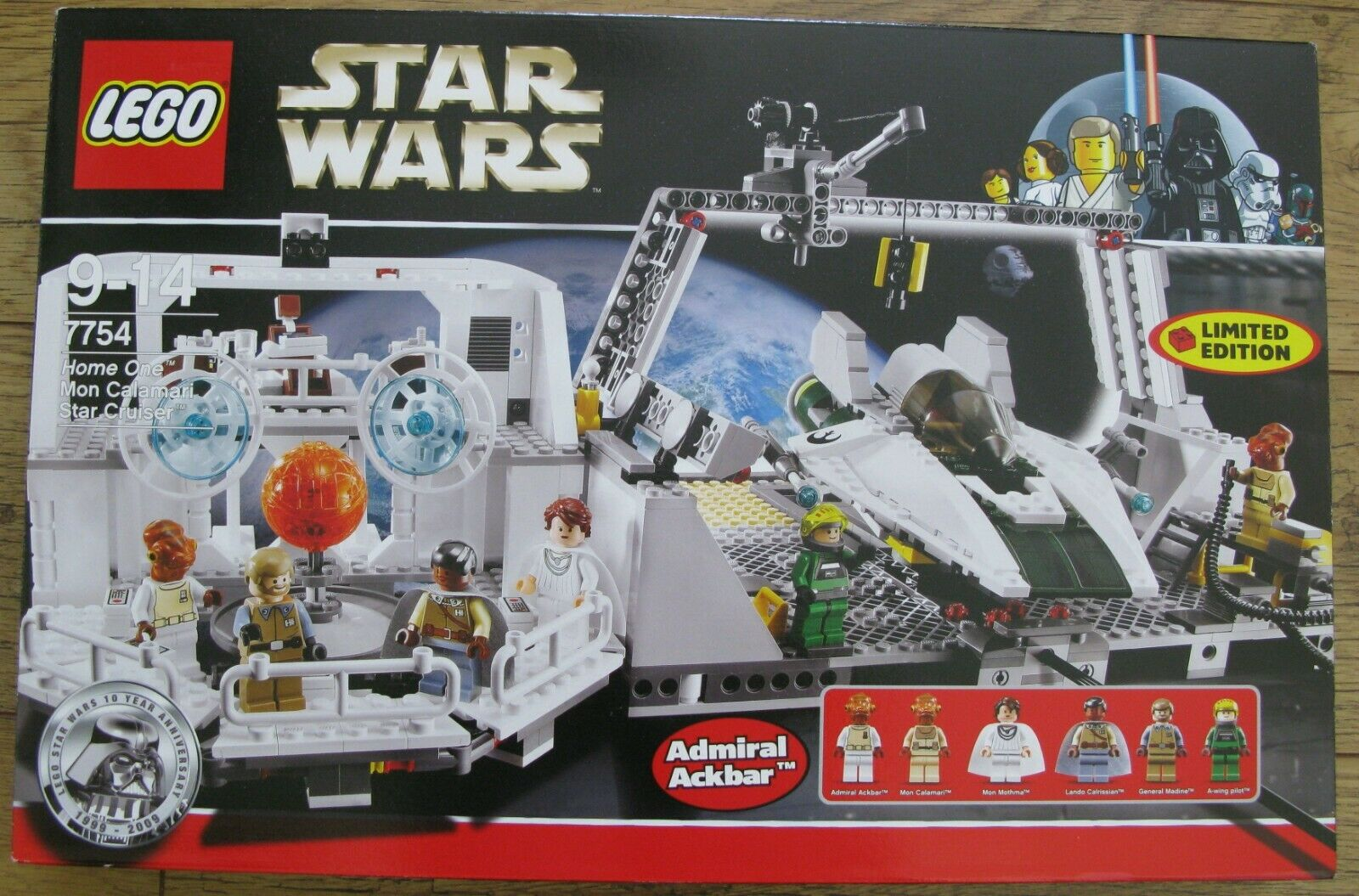 Lego 7754 Star Wars Home One Mon Calamari Star Cruiser 100% complete