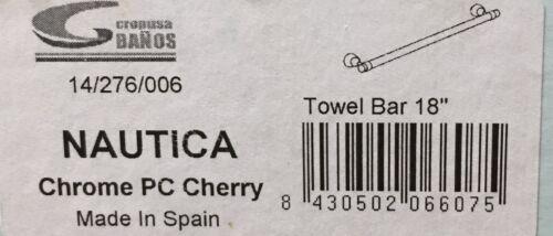 "Nautica 18"" Cherry Wood /& Chrome Towel Bar 14//276//006 Cropusa"
