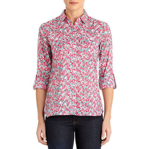 Jones New York Safari Shirt with Roll Sleeves - Medium (8 10) NWT Ladies
