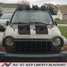 Jeep Liberty KJ hood blackout Matte Black Install kit Free Ship Fits: 2002-2007
