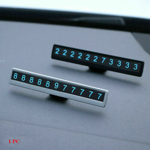 Car Temporary Parking Card Car Styling Sticker Sign Phone Number Sucker Plate