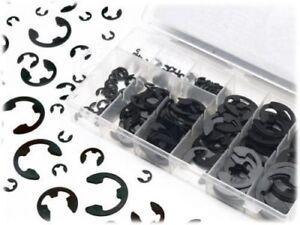 1.5 2 3 4 5 6 7 8 9 10 mm Circlip E-Clip & Retaining Ring Assortment Kit 120pcs