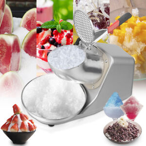 143lbs/hr Electric Ice Shaver Crusher Machine Snow Cone Maker Home Commercial