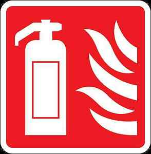 Health And Safety Fire Sticker Sign Fire Extinguisher Flames Sticker Red Elegant In Smell Business & Industrial