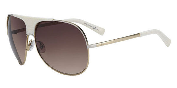176c9588c3 Christian Dior My Lady Dior 8 Sunglasses Authentic Aviator Rose Gold Ivory  White for sale online