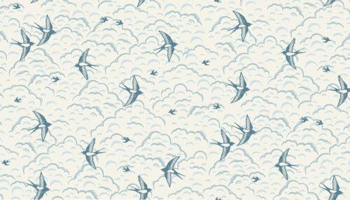 Makower GROVE Countryside Woodland Blue 100/% Cotton Patchwork Craft Fabric