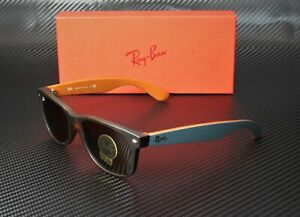 RAY-BAN-RB2132-6179-New-Wayfarer-Matte-Havana-Brown-55-mm-Men-039-s-Sunglasses