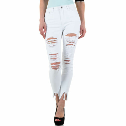 Damen Destroyed Cropped Skinny Jeans 0611 Ital-design