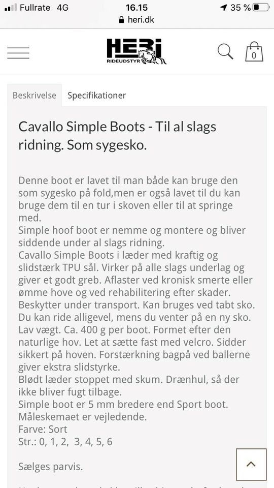 Andet, Cavallo simple boots