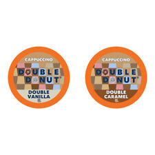 Double Donut Cappuccino, Single Serve Cups for Keurig K cup Brewers, 24 Count