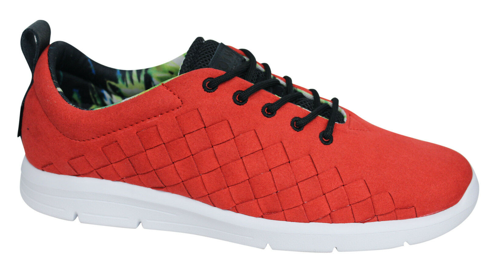 Vans OTW Tesella Lace Up Mens Reptile Red White Trainers