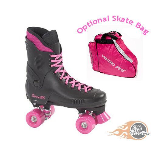 SFR Street 86 Quad Roller Skates Rosa - Optional Skate Bag