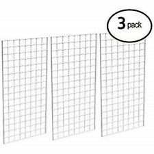 Only Hangers Commercial Grid Panels 2 X 6 White 3pk 12 Wallmounts