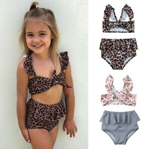 Kid-Girl-Floral-Natation-Bikini-Noeud-Costume-Maillots-de-bain-maillot-de-bain-Plage-Costume