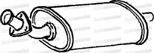 Ldv Pilot 1.9D Diesel A 98-01 Exhaust Silencer Box Middle Pipe Spare Part