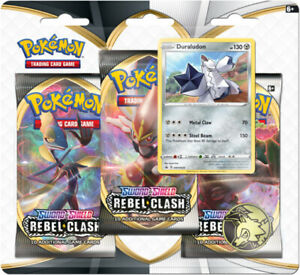Rebel-Clash-Pokemon-Sword-amp-Shield-3-Pack-Blister-Duraludon-Promo