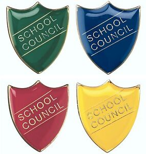 School Council Shield Enamel Badges - Free Delivery | eBay