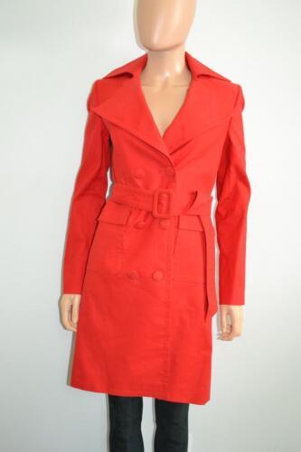 Stella McCartney Red Cotton/Linen Trench Coat/Jack