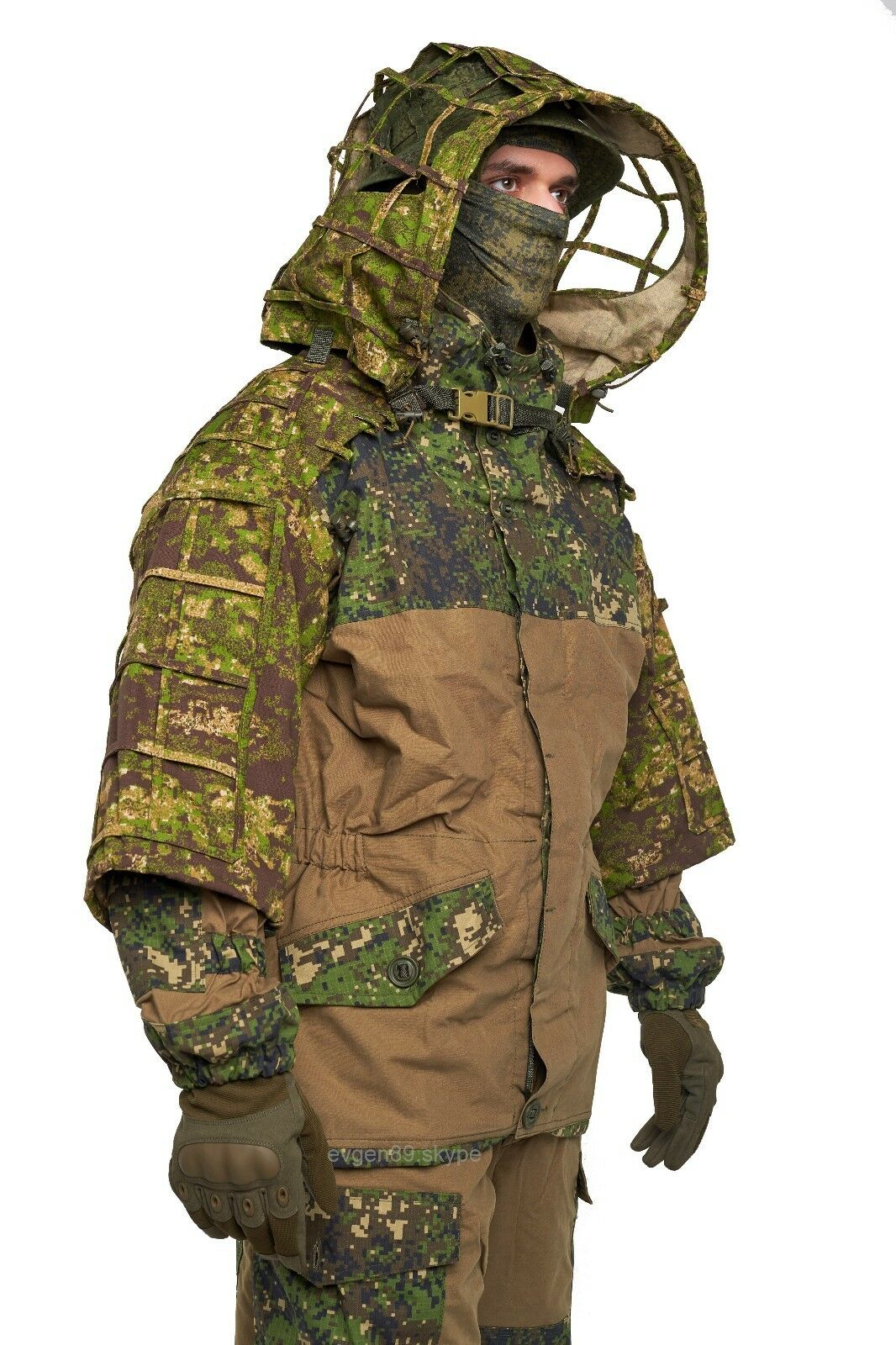 Disguise Sniper Coat  Scorpion     Viper Hood Greenzone by Giena Tactics  designer online