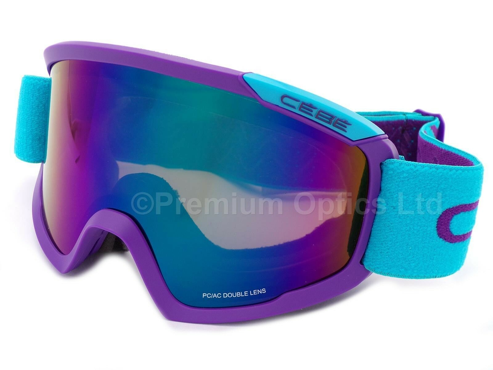 Cebe Fanatic Ski snow Goggles Purple   Brown Flash bluee Mirror Cat.3 CBG102