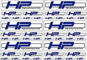 High Performance Parts >> A4 Sheet Bmw Hp Vinyl Decals Stickers Motorbikes High