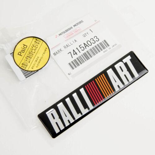 Genuine Mitsubishi Motors Ralliart Emblem 108x26mm Part# 7415A033