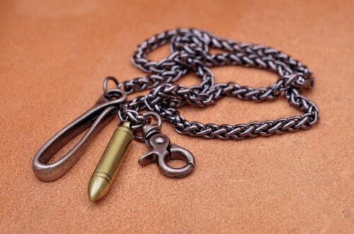 """30/"""" Cool Heavy Biker Trucker Bullet Twisted Keychain Keyring Jean Wallet Chain"""
