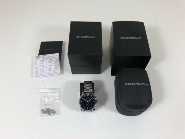 Emporio Armani Men's Gianni Chronograph Stainless Steel Bracelet Watch 43mm