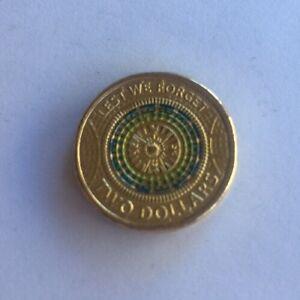 Australian-2-BLUE-GREEN-YELLOW-2017-ANZAC-Commemorative-Coin