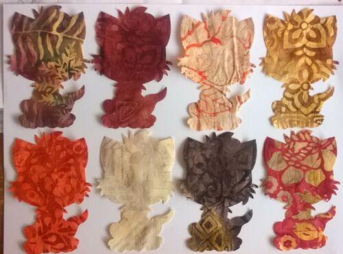 Batik Chatons Chats Large En Tissu Pack restes Patchwork Bundle 100/% coton
