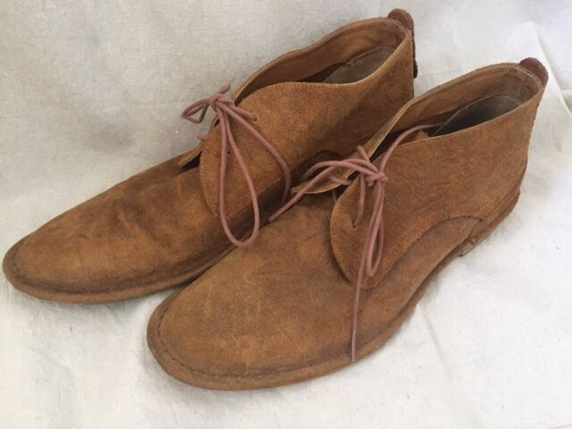J shoes Men's Peter Brown Tan Desert Ankle Boot Chukka Style Sz. UK 10.5 US 11.5