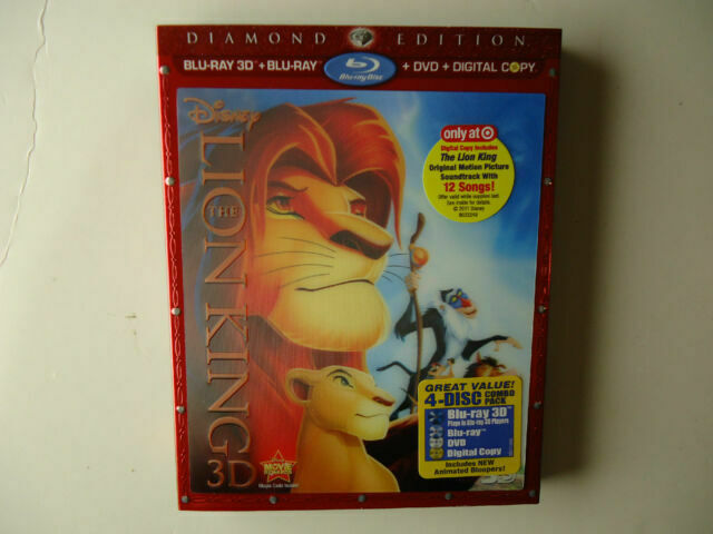 The Lion King 3d Bluray Diamond Edition Target For Sale Online Ebay